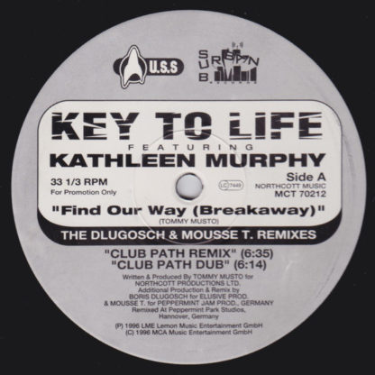 "Key To Life Featuring Kathleen Murphy - Find Our Way (Breakaway) (2x12"", Promo)"