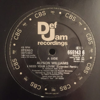 "Alyson Williams - I Need Your Lovin' (12"", Single, Gen)"